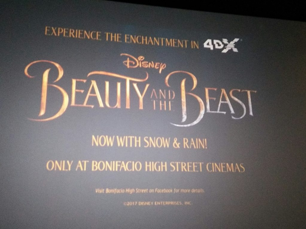 Beauty and the Beast in 4DX Cinema
